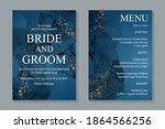 modern abstract luxury wedding... | Shutterstock .eps vector #1864566256