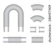 vector plumbing corrugated... | Shutterstock .eps vector #186457409