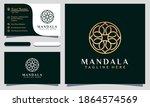modern elegant mandala cosmetic ... | Shutterstock .eps vector #1864574569