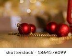 Red Christmas Glass Balls For...