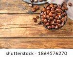 Fresh Sweet Edible Chestnuts On ...