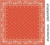bandana print. vector seamless... | Shutterstock .eps vector #1864590919