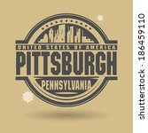 Stamp or label with text Pittsburgh, Pennsylvania inside, vector illustration