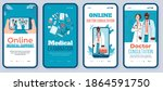 mobile app on phone screen for... | Shutterstock .eps vector #1864591750