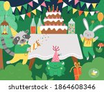 Vector Birthday Party Forest...