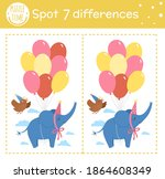 birthday party find differences ... | Shutterstock .eps vector #1864608349
