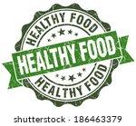 healthy food green grunge retro ...   Shutterstock . vector #186463379