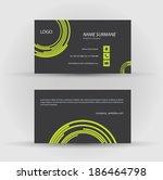 set of modern vector business... | Shutterstock .eps vector #186464798