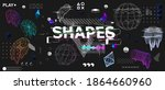 3d shapes and trendy universal...   Shutterstock .eps vector #1864660960