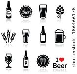 beer vector icons set   bottle  ...