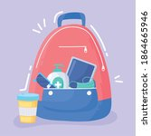 new normal  backpack with...   Shutterstock .eps vector #1864665946