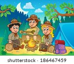 children scouts theme image 4   ... | Shutterstock .eps vector #186467459