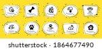animals icons set. speech... | Shutterstock .eps vector #1864677490