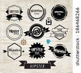 trendy hipster label and badge... | Shutterstock .eps vector #186468266