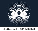 wiccan woman icon  triple... | Shutterstock .eps vector #1864702093
