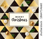 christmas greeting card  ... | Shutterstock .eps vector #1864714660