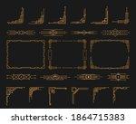 golden geometric template in... | Shutterstock .eps vector #1864715383