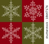 Snowflakes collection 3 - stock vector