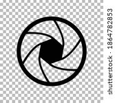 camera objective icon on...
