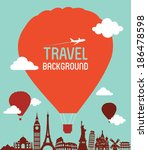 travel and tourism background | Shutterstock .eps vector #186478598
