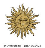 bohemian hand drawing  esoteric ... | Shutterstock .eps vector #1864801426