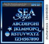 sea landscape graphic styles... | Shutterstock .eps vector #186480803
