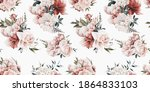 seamless floral pattern with... | Shutterstock . vector #1864833103