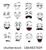 face expression isolated vector ... | Shutterstock .eps vector #1864837609