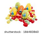 colored easter eggs isolated | Shutterstock . vector #186483860