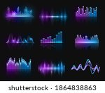 music equalizers  vector audio...