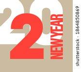 creative concept of 2021 happy... | Shutterstock . vector #1864850869