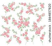 beautiful flower illustration... | Shutterstock .eps vector #1864857820