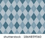argyle pattern seamless. fabric ... | Shutterstock .eps vector #1864859560