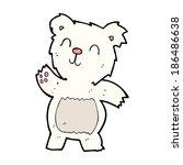 cartoon polar bear | Shutterstock .eps vector #186486638