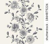 vintage seamless pattern....   Shutterstock .eps vector #1864875226