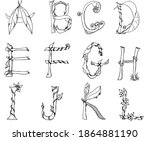 unusual vector letters that can ... | Shutterstock .eps vector #1864881190
