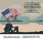 happy veterans day celebration...   Shutterstock .eps vector #1864919170