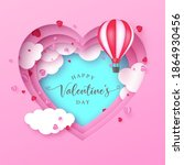 valentines day abstract...   Shutterstock .eps vector #1864930456