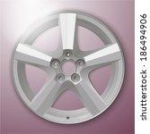 alloy wheel. vector | Shutterstock .eps vector #186494906