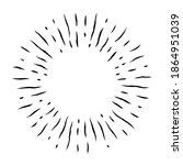 radial line. random rays.... | Shutterstock .eps vector #1864951039