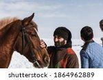 kars  turkey 12 february 2017... | Shutterstock . vector #1864962889