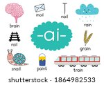 ai digraph with words...   Shutterstock .eps vector #1864982533