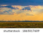 Silhouette Of The City At...