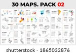 30 map infographic templates... | Shutterstock .eps vector #1865032876