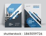 corporate book cover design... | Shutterstock .eps vector #1865059726