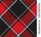 seamless pattern of scottish... | Shutterstock .eps vector #1865089006