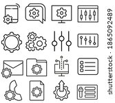 setup icon vector set. settings ... | Shutterstock .eps vector #1865092489