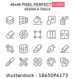 design and tools thin line icon ...