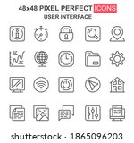 user interface thin line icon...