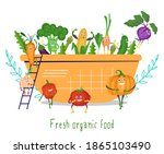 cute funny vegetable characters ... | Shutterstock .eps vector #1865103490
